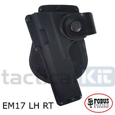 Fobus Glock 17 Left Handed Light Bearing Rotating Paddle Holster EM17 RT LH
