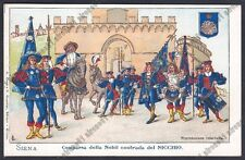 SIENA CITTÀ 50 PALIO Contrada del Nicchio COSTUMI Cartolina 1900