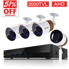 ELEC 8CH Channel 720P AHD DVR 2000TVL Home IR CCTV Video Security Camera System