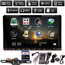 "Sony Lens 7"" In Dash 2 Din Car DVD Player GPS Navigation 3D Bluetooth TV+MAP+CAM"
