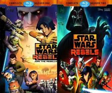 Star Wars Rebels: The Complete Season 1 AND 2 (Blu-ray Disc, 2016 )