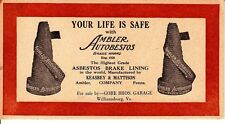 Your Life Is Safe with Ambler Autobestos Brake Lining Williamsburg VA Card