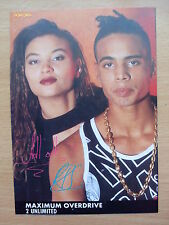 2 UNLIMITED - Maximum Overdrive - Lyric Card + Autographs