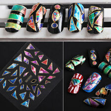4 Sheets Nail Art Transfer Stickers 3D Design Manicure Tips Decal Decoration