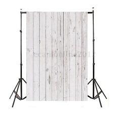 Toile de Fond Backdrop Tissu 1x1.5m Photographie Studio Photo Planche bois Blanc