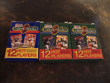 1990 Pro Set Football---Collect-A-Books---Lot Of 3---2 Factory Sealed---1 Opened