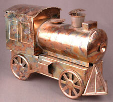 Sankyo Music Box-Train Engine-Copper Metal w Movement Vintage-Rare-Work Railroad