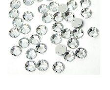 50 Glitzersteine 6mm crystal zum Aufnähen auf Textilien Strass-Steine