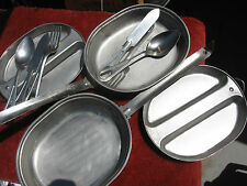 Bug out Mess kit US ARMY USMC 3 utensils pan plate LOT of TWO complete kits.