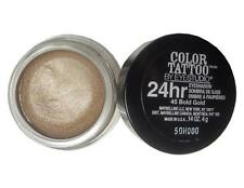 NEW Maybelline COLOR TATTOO 24 HR EYESHADOW 45 BOLD GOLD Shimer .14 Oz FULL SZ