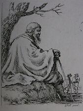 STEFANO DELLA BELLA ´ALTER MANN UNTER EINEM BAUM SITZEND´ DE VESME 163, ~1648