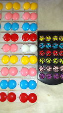 Joblot of 39 Pairs mixed colour round 10mm  stud Earrings - New wholesale6