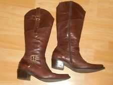 Laura Biagiotti bottes cavalières style Santiag western cuir 38 Cavallerizzo uk5