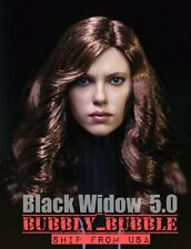 1/6 Black Widow Scarlett Johansson Head Sculpt IN STOCK For Hot Toys Phicen USA