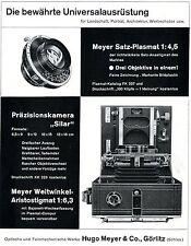 Hugo Meyer&Co. Görlitz Schl. PRÄZISIONSKAMERA SILAR Historische Reklame von 1938