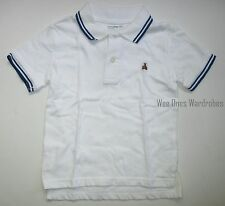 Baby Gap White Bear Stripe Collar Pique Polo Shirt Top Boys 4T NEW NWT