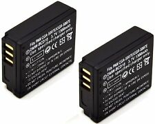 2x 3.7v 1300mAh Battery Pack for Panasonic Lumix DMC-TZ1 DMC-TZ2 DMC-TZ3 DMC-TZ4