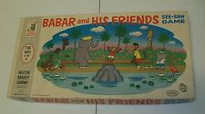 Rare 1960 BABAR ELEPHANT & Friends See-Saw MB Game MIB Box is gorgeous! Complete