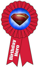 SUPERMAN Man of Steel GUEST OF HONOR RIBBON ~ Birthday Party Supplies Favors Red