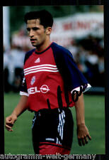 super AK Foto H. Salihamidzic Bayern München 1999-00(3) Orig. Signiert