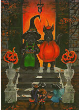 ACEO PRINT OF PAINTING HALLOWEEN RYTA SCOTTISH TERRIER SCOTTY ART TRICK OR TREAT