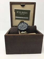 Filson Mackinaw Chronograph Men's Watch Field Khaki Strap NIBWT- Shinola