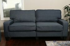 DARK BLUE Sofa Couch Love Seat College Dorm Apartment Living Room Modern 61""
