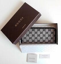 GUCCI Women Wallet original Monogram GG canvas gray-black New 268917
