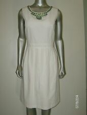Ellen Tracy Women's Cream Sheath Dress Size 10