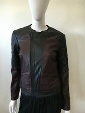 NWT WOMENS AUTHENTIC JOES JEANS LUXURY SEAMSTRESS MOTO LEATHER JACKET SIZE LARGE