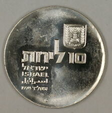 1974 Israel 10 Lirot Silver BU 26th Anniversary Commem Coin w Original Holder