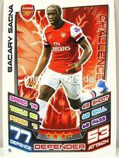 Match Attax 2012/13 Premier League - #005 Bacary Sagna - Arsenal London