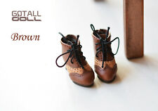 GOTALL doll Vintage High Heels Short Boots for Kenner Blythe doll shoes - brown