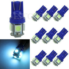 10x Ice Blue T10 5050 W5W 5 SMD 194 168 LED Car Side Wedge Tail Light Bulb 12V