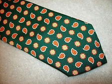 Peter Millar 100% Silk Mountain Green  Paisley Tie NWT $115 Made in Italy