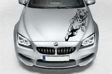 (H2) JUMPING WILD CAT TIGER DECAL VINYL STICKER HOOD WALL WINDOW TRUCK CAR TRUNK