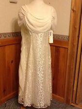 David Rose Tea Length Gown Dress Size 14 Ivory Lace Lovely