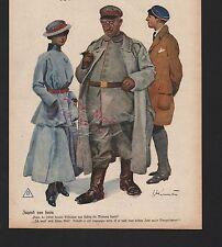 1917, Zeichnung von E. Heilemann Jugend von heute. WWI