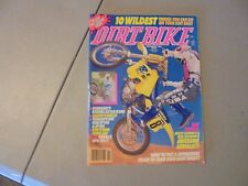 NOVEMBER 1989 DIRT BIKE MAGAZINE,KTM 500MX,YAMAHA RT80,RT100,SUZUKI RM125,KX80