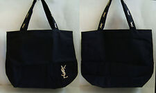New Yves Saint Laurent YSL Embroidery LOGO Shopper Shoulder Tote Bag Handbag