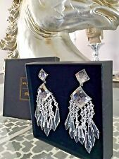 AUTH NWT BALMAIN H&M LARGE CLEAR CHANDELIER EARRING DROPS