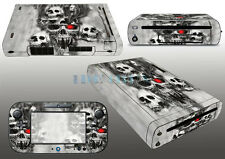 Skull Pop Game Protector Vinyl Sticker for Wii u Skin Console Skin Free Shipping