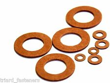 M3 Red Fibre Washer - Pack of 10 - FREEPOST (Fiber Washer)
