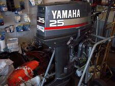 25hp YAMAHA OUTBOARD MOTOR 2 STROKE SHORT SHAFT TILLER HANDLE  PARTS 1997