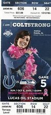 2013 INDIANAPOLIS COLTS VS SEATTLE SEAHAWKS TICKET STUB 10/6/13 RUSSELL WILSON