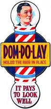 Vintage Barber Shop Pom Po Lay Hair Dressing Metal Sign Unique Wall Decor BS014