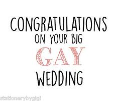 Big Gay Wedding, Civil Partnership, Mr & Mr  Mrs & Mrs, Marriage Card