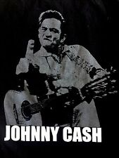 Alstyle Apparel Johnny Cash Middle Finger -The Bird -Prison Photo TShirt Adult M