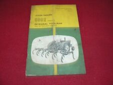 John Deere 500E Tool Bar Operator's Manual WPNH dirty cover