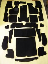 VW KARMANN GHIA CONVERTIBLE  BLACK LOOP CARPET KIT WITH 20 OUNCE PADDING